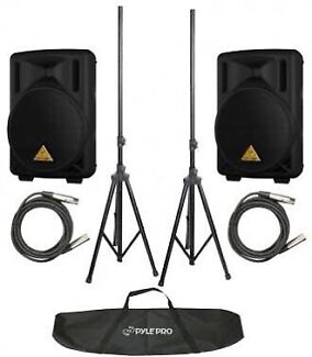 "Hire  2x 15 "" speakers, stands  PLUS GigBar for just $119 save $29!"
