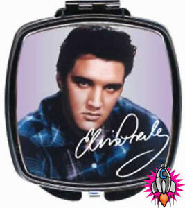 NEW OFFICIAL ELVIS PRESLEY SILVER COMPACT MIRROR MAKE UP