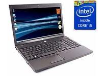 cheap hp core i5 laptop 2nd gen 4GB Ram 320GB hard drive webcam dvd wifi Win 7 very good condition