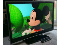 """Toshiba Regza 37"""" Lcd Full Hd Slimline Tv Built In Freeview Remote & Stand Excellent Condition"""