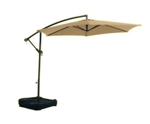 Sutton Collection Offset Umbrella with Sand-Weighted Base