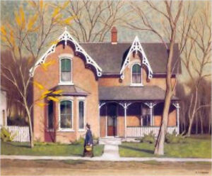 """Unionville"" Lithograph by A.J. Casson appraised at $3000"