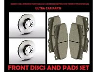VAUXHALL-CORSA-C-FRONT-VENTED-BRAKE-DISCS-AND-PADS-SET-NEW