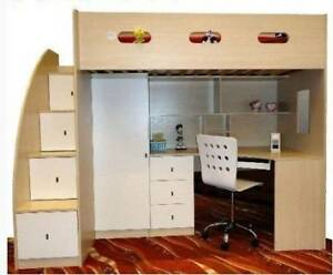 Fabulous Kid 39 S Loft Bed Bed On Top Desk 47 Storage Under