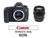 Canon EOS 5D Mark III Digital SLR Camera Body + 3 Batteries + 16 GB CF Card+ option EF 85 mm f 1.8