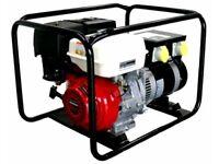 2.7Kw / 3.5Kva Petrol Generator - GX200 Honda Engine Top Box 2x110v & 2x220volt sockets Armagh Newry