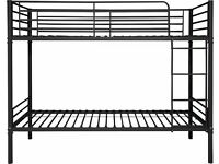 NEW black metal SHORTY SIZE bunk bed frame. 1/2 shop price. Boxed. Delivery available.