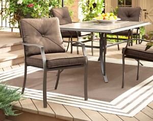 NEW SUTTON CUSHION PATIO DINING CHAIRS / FAUTEUIL SUTTON