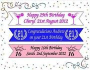 Personalised 21st Birthday Banners
