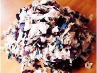 Approx.3kg of Shredded Fabric Stuffing for Crafts,Toys,Collages,Cushions Etc...