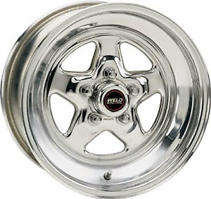 2 MAGS WELD RACING 15X8 BACK SPACE 5 1/2 CHEVROLET GM