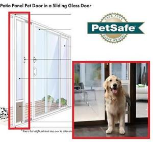 NEW PETSAFE PATIO PANEL PET DOOR PPA11 13141 140230942 LARGE TALL WHITE  FREEDOM
