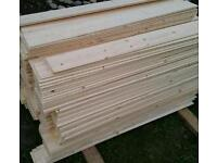 Untreated claddings bords size 117cm length X 12cm wide X 11mm thick