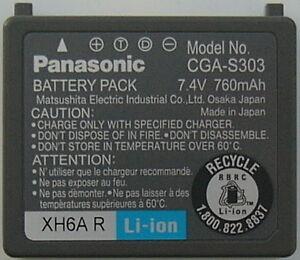PANASONIC / Bloc Batterie / CGA-S303 / neuf / 1x /