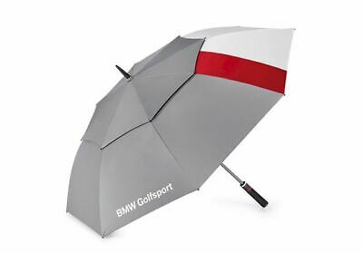 Genuine BMW Golfsport Golf Automatic Umbrella 130cm Grey/White/Red 80232460954