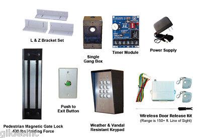 Pedestrian Gate Magnetic Lock Access Control Kit 400 Lb