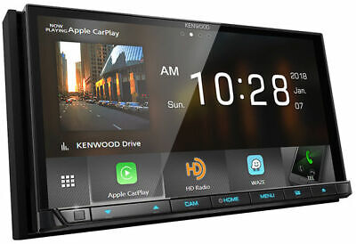 """Kenwood 2-DIN 6.95"""" Car Stereo CD DVD Player Receiver with B"""