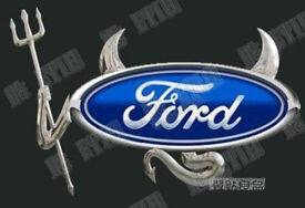 SILVER 3D STICKER KIT DEVIL HORNS TAIL & FORK VW BMW CAR EMBLEM MERC TOYOTA FORD