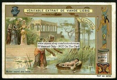 Baby Moses Saved From The River Holy Bible c1903 Trade Ad  - Baby Moses Craft