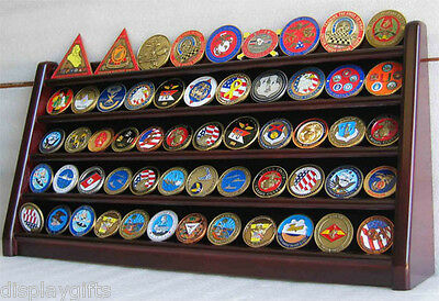 5 Row Military Challenge/Casino Coin Display Rack Case Cabinet Stand Coin5-MAH Row Challenge Coin Rack