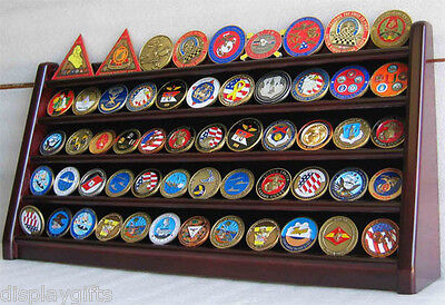 Military Coin Display - 5 Row Military Challenge/Casino Coin Display Rack Case Cabinet Stand Coin5-MAH