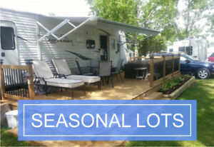 Yearly RV Lot Rentals Next to Riverbank Golf In Wandering River!