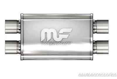 """Magnaflow 11386 Universal Stainless Steel Oval Exhaust Muffler 2.5"""" In/Out"""