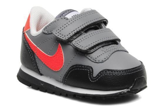 Nike Metro Plus Baby Shoes GREY BLACK ORANGE New In Box