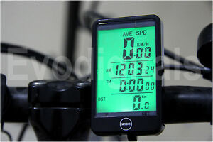 NEW EVORIDER WIRELESS BICYCLE CYCLE COMPUTER BIKE SPEEDO SPEEDOMETER + TOUCH!