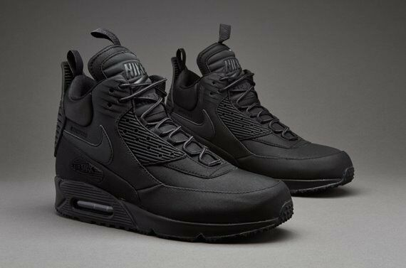 xjkjm Nike Air Max 90 Triple Black Sneaker Boots UK 9 & 9.5 100
