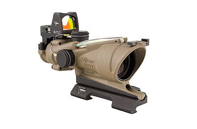 NEW Trijicon ACOG Rifle Scope 4x 32mm Green Crosshair RMR Reticle FDE TA31ECOS-G