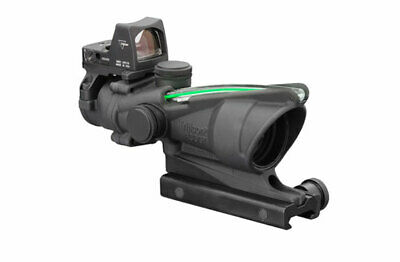 Trijicon ACOG 4x32 Scope, Dual Illuminated Green Chevron w/ RMR TA31-D-100548