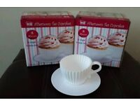 Cupcake mould tea cup and saucers