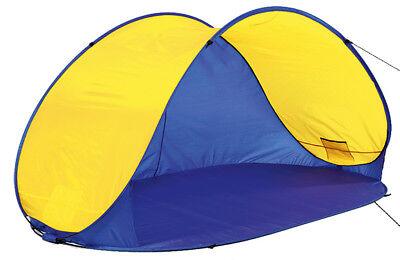 4Uniq Pop Up Strandmuschel Zelt Campingzelt blau gelb 1… |
