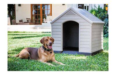 Caseta para perro grande fabricada en resina