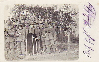 WW1 PHOTO of GERMAN ARMY SOLDIERS in FRANCE