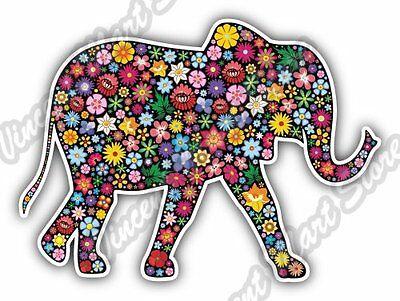Elephant Floral Flower Color Colorful Car Bumper Vinyl Sticker Decal 5