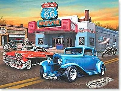 Wishing you miles of smiles today and the year OLD CARS ROUTE 66 BIRTHDAY CARD