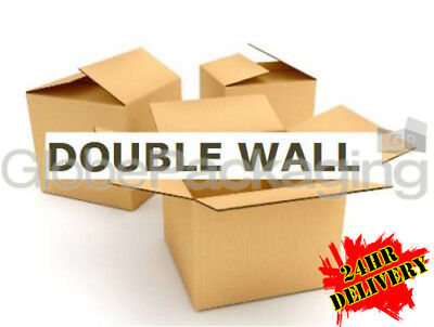 10 x DOUBLE WALL Cardboard Moving Boxes 457x305x305mm