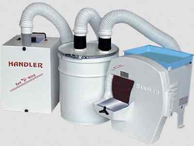 Handler Dental 31-dts 31 Dry Model Trimmer W Super Sucker 62-ii Dust Collector