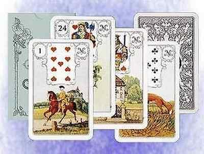 Lenormandkarten - Jugendstil Tarotkarten Eule blau blaue Eule