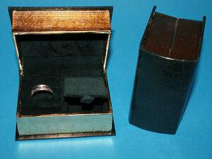 Astucci per gioielli libro segrete porta anelli orecchini - Porta orecchini a libro ...