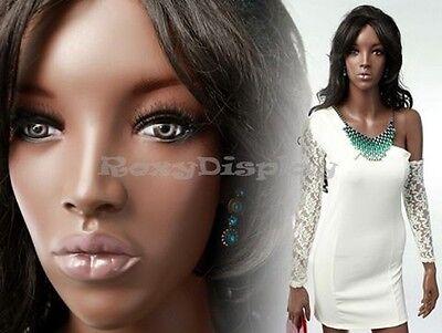 Fiberglass Pretty Black Female Mannequin Display Dress Form Mya2-mz
