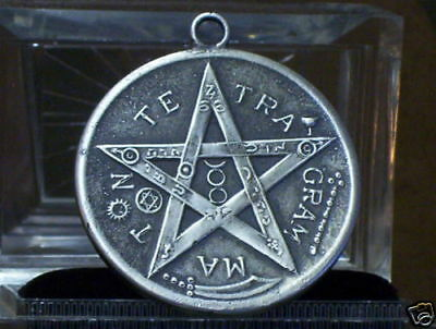 "ALEISTER CROWLEY ""TETRAGRAMMATON"" PENTACLE OF FAUST""~""ELPHAS LEVI""~ STERLING~"