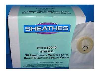 Sheathes Latex Ultrasound Probe Covers 1-14 D X 8 L Sterile 50bx 1.25 10040