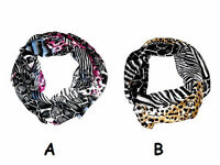 Animal printed neck / head scarf assorted 2 colour ways - 25x160cm - JTY424
