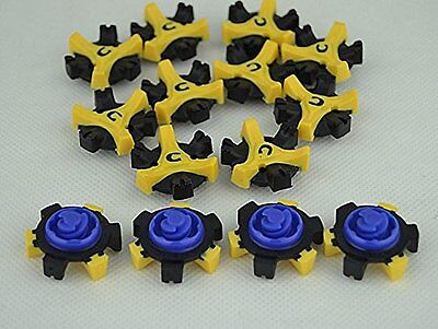 14Pcs Delicate Tri-Lok Golf Shoe Spikes  Replacement Champ Cleat Fast Twist