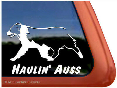 Haulin' Auss ~ High Quality Vinyl Australian Shepherd Window Decal Sticker