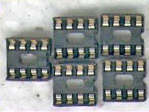 20  X  IC- FASSUNG ( IC-SOCKEL ) 8POLIG  DOPPELFEDER