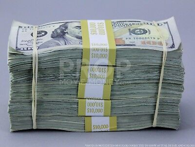 PROP MOVIE MONEY Fake Money $50k TRUE BLUE FILLER Bundle for movies, videos